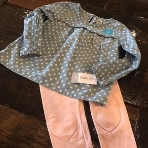 NWT Carter's heart outfit 4T
